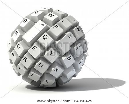 abstract keyboard ball
