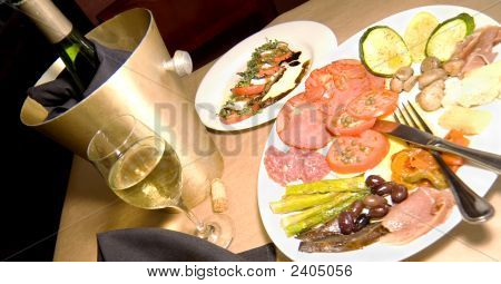 Antipasto And Wine