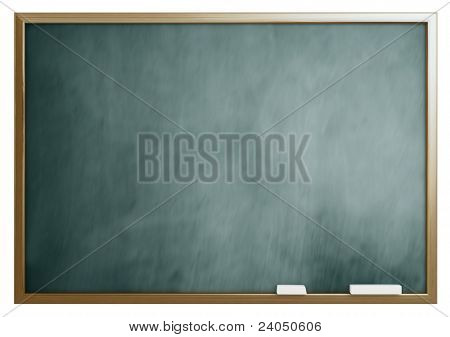 school blackboard isolated on white background