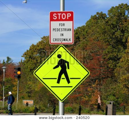 Pedestrian Walking Signs