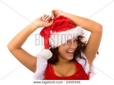 Schöne Weihnachten-Mädchen