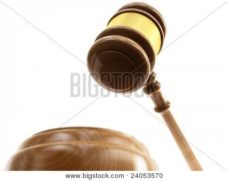 Wooden gavel, barrister