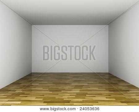 3d render empty room