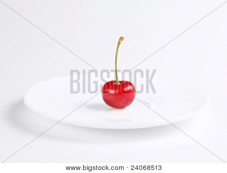Red Cherry At The Plate