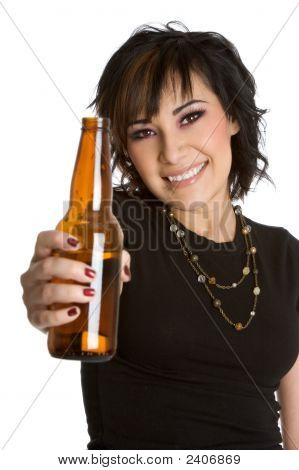 Girl With Beer Bottle