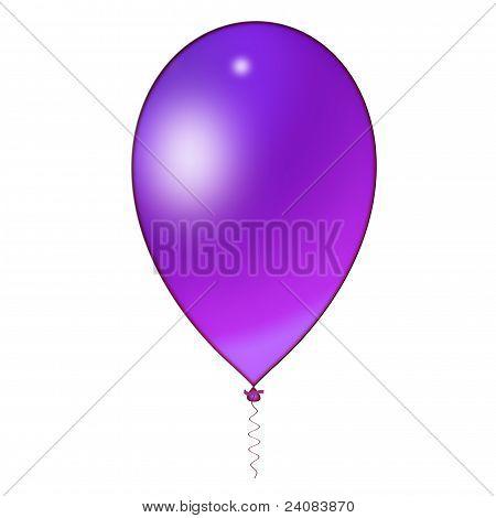 Cyan (blue) balloon