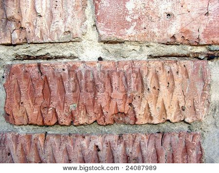 texture (background) building bricks laid in the wall