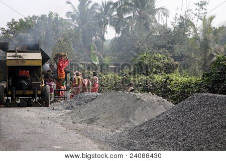 Building New Road In Kumrokhali
