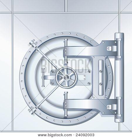 Detailed vector illustration of Bank Vaulted Door