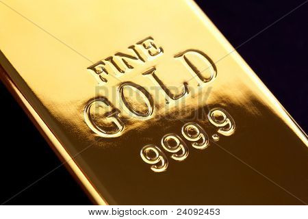 Gold bullion or ingot