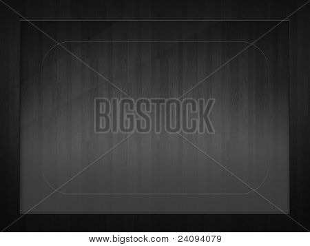 Rectangular frame for a photo with the texture of dark-colored vertical lines