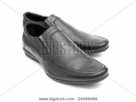 Pair Of Black Man's Shoes