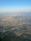 Aerial Topography Scene From Bird Eye View Of Brisbane Queensland Regional Area poster