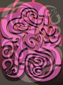 picture of fibonacci  - Abstract illustration loosely based on Fibonacci geometry - JPG