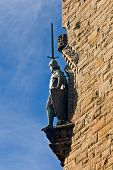 foto of william wallace  - A William Wallace Monument statue Stirling Scotland - JPG