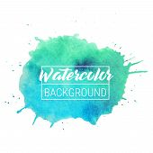 Watercolor Blob Vector Text Box Background. Isolated Watercolor Blob Vector For Sale, Web, Banner. W poster