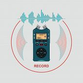 Audio Recorder For Recording And Working With Sound. Device For Recording And Creating Sound Effects poster