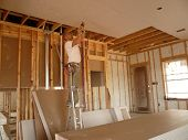 Drilling The Sheetrock On The Ceiling
