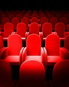 image of movie theater  - Empty Theatre auditorium cinema or conference hall - JPG