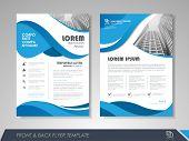 Modern Blue Brochure Design, Brochure Template, Brochures, Brochure Layout, Brochure Cover, Brochure poster