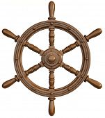 image of rudder  - ship wheel - JPG