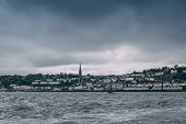 The Town Of Cobh, Which Sits On An Island In Cork City Harbour, As Seen From The Sea. It Is Known As poster