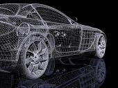 Постер, плакат: 3D автомобиль