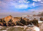 Surf On The Rocky Coastline Of Mazatlan Mexico poster