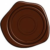image of wax seal  - vector illustration of brown sealing wax stamp - JPG