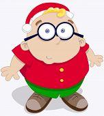 Boy Wear Santa Hat