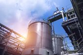 Manufacturing Of Chemical Industrial Plant With Storage Tanks poster