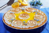Постер, плакат: Classic French Lemon Tart With Custard Filling
