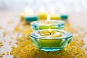 Candles With Bath Salt