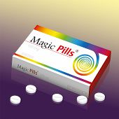 Medicine Packet Named Magic Pills, A Medical Panacea Product To Promise Miracle Cure, Assured Health poster