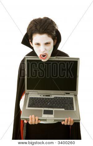 Halloween Vampire With Message
