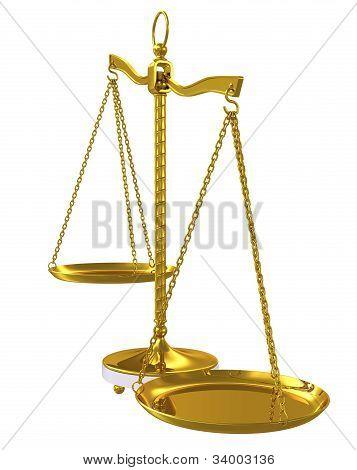 Gold Beam Balance