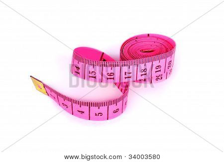 Measuring Tape Isolate On A White Background