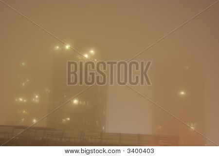 Resdiential Buildings In Thick Fog In Vancouver
