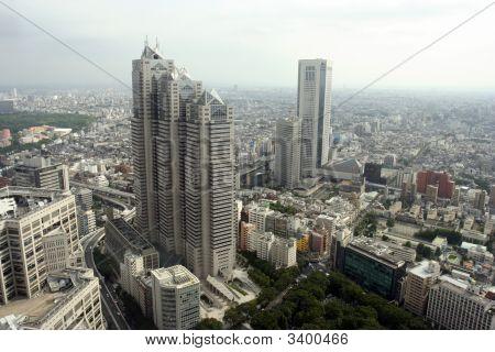 Tokyo Shinjuku Center Aerial View