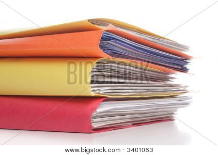 Stack Of Folders With Files