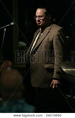 MADISON, NJ - JUNE 16: Steve Turre stands as he performs with his Quartet at Shanghai Jazz on June 16, 2012 in Madison, NJ.