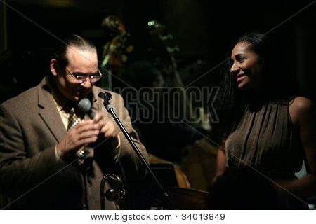 MADISON, NJ - JUNE 16: Steve Turre performs with his daughter, Andromeda Turre, and his Quartet at Shanghai Jazz on June 16, 2012 in Madison, NJ.