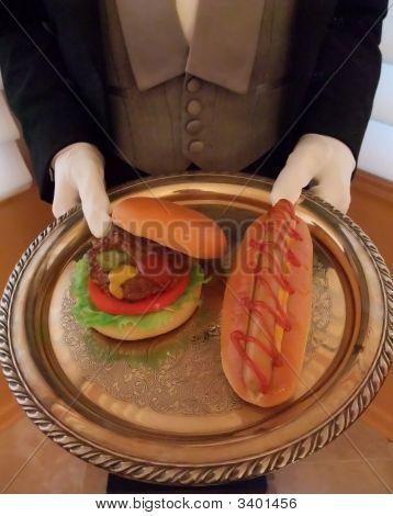 Waiter At Bbq