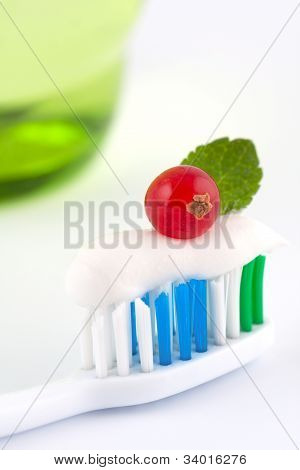 Toothbrush With Fresh Minty Toothpaste