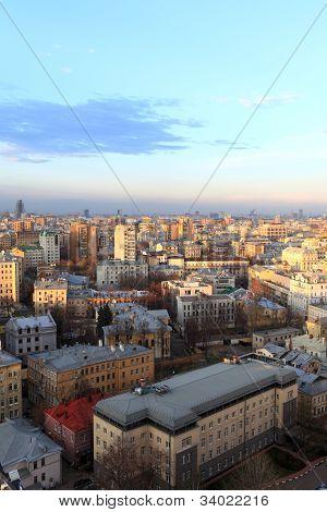 Moscow Evening Skyline