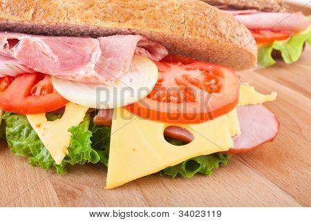 whole wheat stuffed sandwich