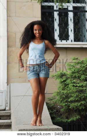 Happy Black Girl