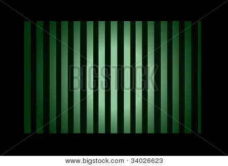 Green Light With Bars In Frame