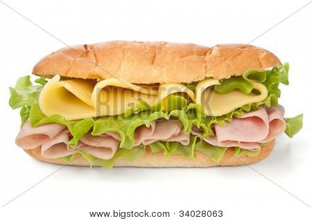 tasty honey roasted ham and cheese sandwich