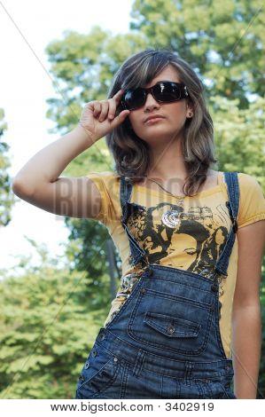 Teen Wearing Sunglasses